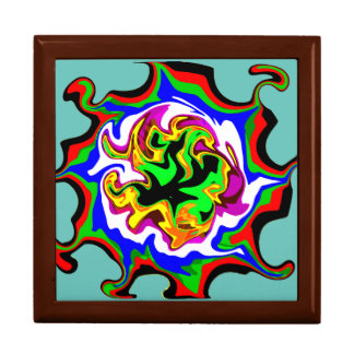 Fractal Fire Large Square Gift Box