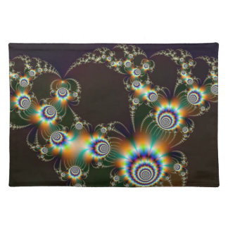 Fractal Fireworks American MoJo Placemats