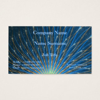 Fractal Fireworks Business Card