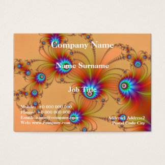 Fractal Fireworks Chubby Business Card