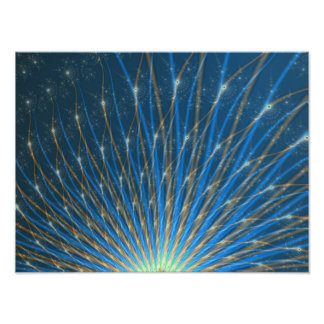 Fractal Fireworks Photograph