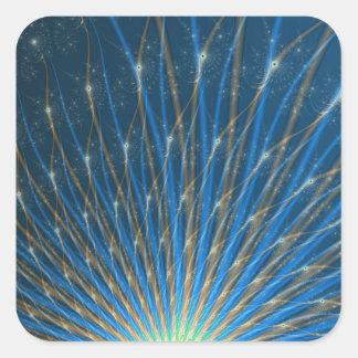Fractal Fireworks Sticker