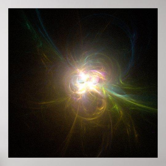 Fractal Flame : The inner light Poster