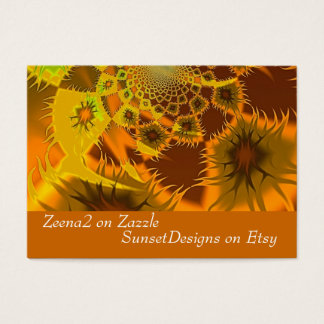 Fractal Flames Business Cards