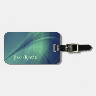 "Fractal ""Flash of Thought"" Luggage Tag"