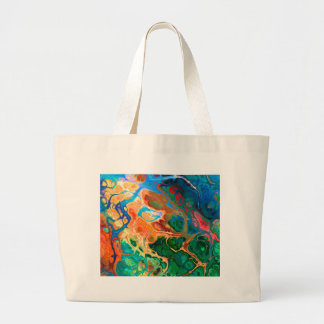 Fractal Floral Art Large Tote Bag