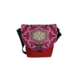 Fractal Floral Pattern Shoulder Bag/Day Sac Commuter Bag