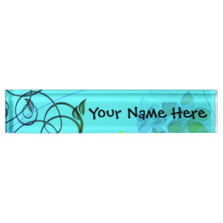 Fractal Flower Elegance Desk Nameplates