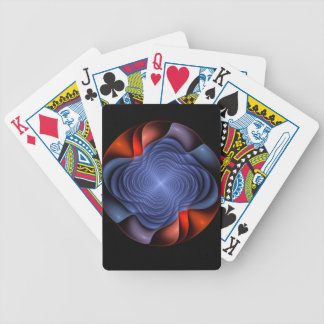 Fractal flower on a dark background bicycle playing cards