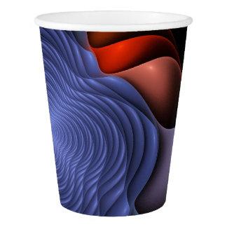 Fractal flower on a dark background paper cup
