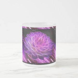 Fractal flower starmug 10 oz frosted glass coffee mug