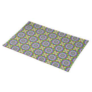 Fractal Flower Tiled American MoJo Placemats