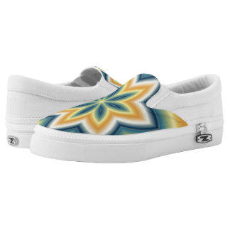 Fractal Flower Zipz Slip-on Printed Shoes