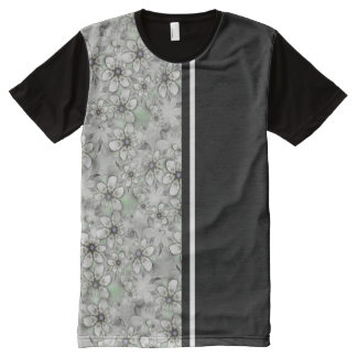 Fractal Flowers seamless pattern I + your ideas All-Over Print T-Shirt