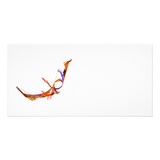 Fractal - Flying Swan Photo Greeting Card