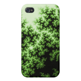 Fractal Forest-Think GREEN pretty and meaningful Covers For iPhone 4