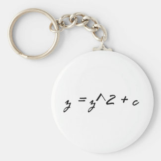 Fractal Formula Basic Round Button Key Ring