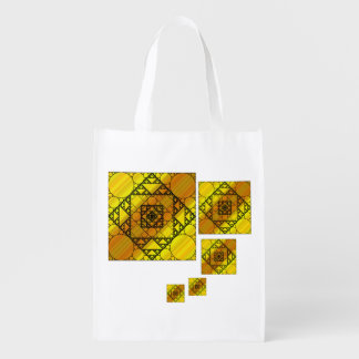 Fractal Geometry Reusable Grocery Bag