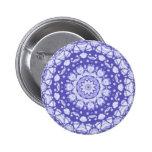 Fractal Glass Digital Art Mandala Pin Button