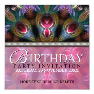 Fractal Goddess Beauty Birthday Party Invitations