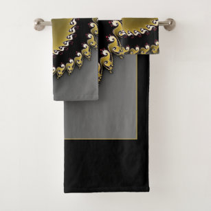 surprising black silver bathroom accessories | Ochre Bathroom Accessories | Zazzle.co.uk
