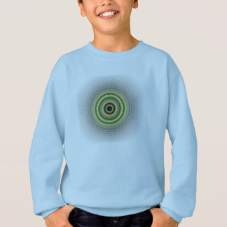 Fractal Gray Misty Owl Eye Sweatshirt