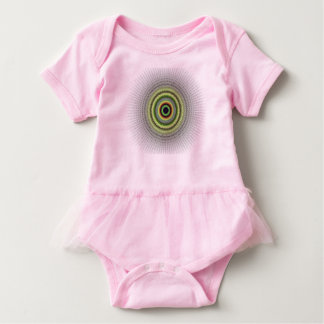 Fractal Gray Misty Owlet Eye Baby Bodysuit