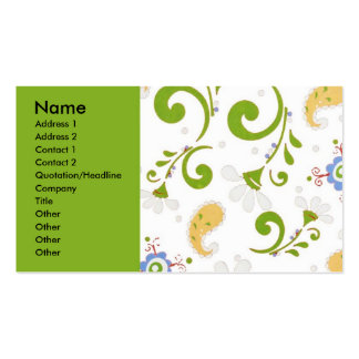 Fractal green pack of standard business cards