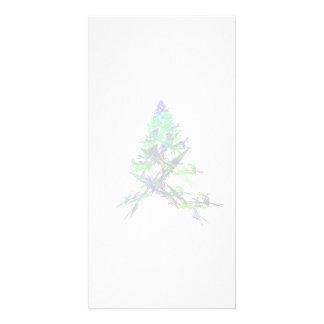 Fractal - Green Christmas Tree Photo Card