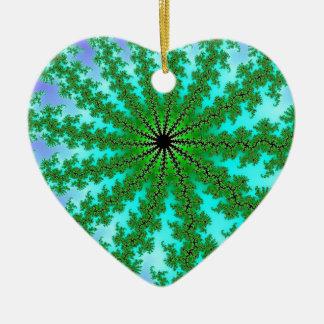 Fractal Green Color Ornaments