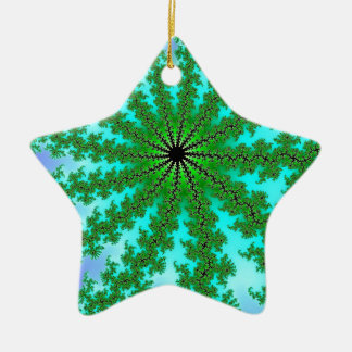 Fractal Green Color Christmas Tree Ornament