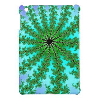 Fractal Green Color iPad Mini Cases