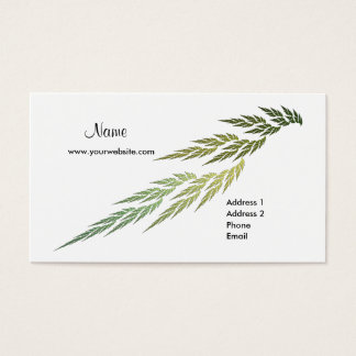 Fractal Green Leaves Business Card