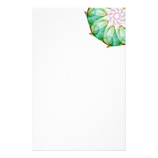 Fractal Green Stationery Paper