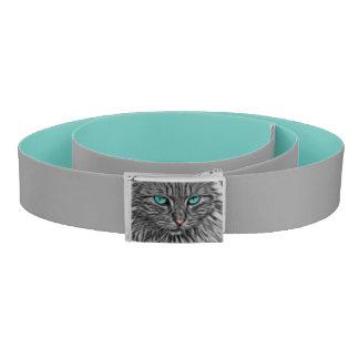 Fractal grey cat illustration belt
