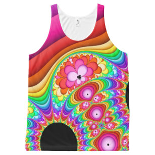 Fractal Groovy Trip All-Over Print Tank Top