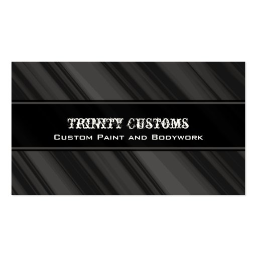 Fractal Grunge Business Card, Charcoal