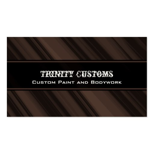 Fractal Grunge Business Card, Chocolate Brown
