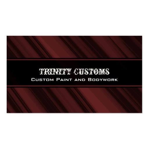 Fractal Grunge Business Card, Crimson