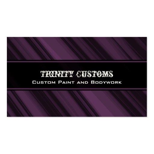 Fractal Grunge Business Card, Eggplant
