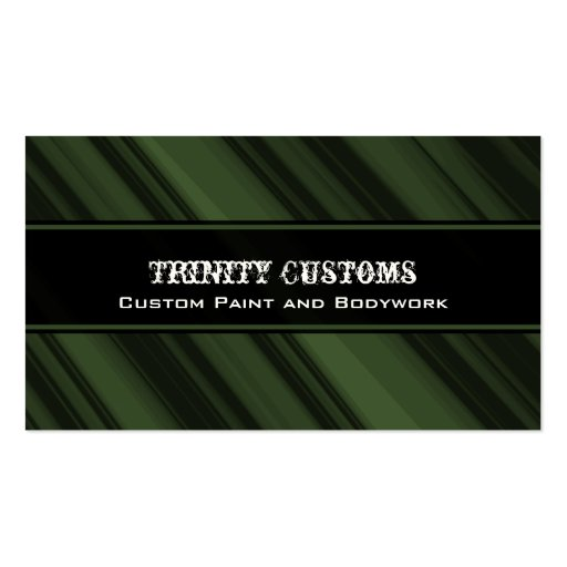 Fractal Grunge Business Card, Forest Green