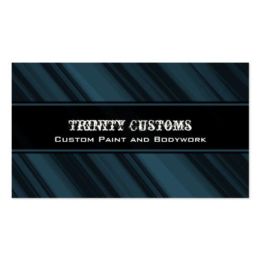 Fractal Grunge Business Card, Royal Blue