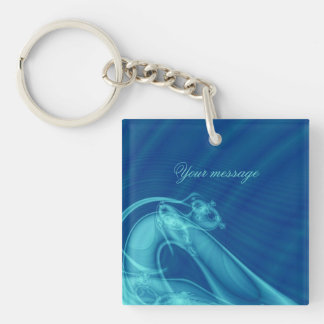 """Fractal """"Guardian Angel"""" Keychain square-two sides"""