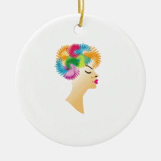 Fractal hair christmas ornament