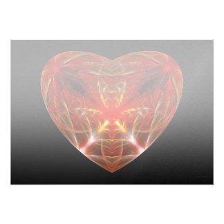 Fractal - Heart - Open heart Custom Announcements