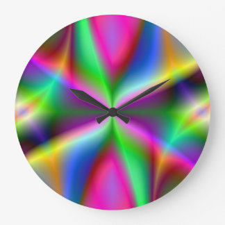 Fractal Hourglass Art Large Clock
