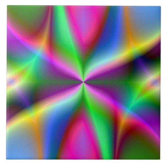 Fractal Hourglass Art Large Square Tile