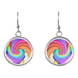 Fractal Ice Cream Swirl Earrings