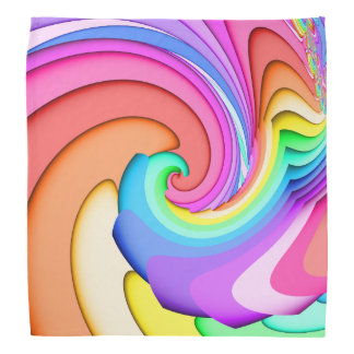 Fractal Ice Cream Swirl Kerchiefs
