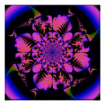 fractal in blacklight style  print
